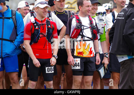 Start of Ring o Fire Ultra Marathon Anglesey - Stock Photo