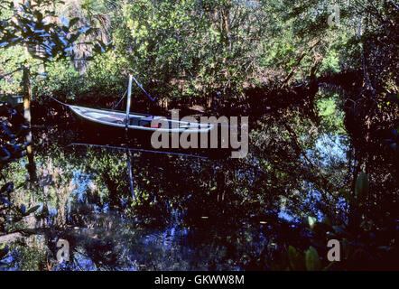 Small Boat In Florida Canal Stock Photo 166270239 Alamy
