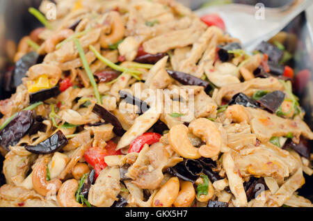 Thai food, stir fired chicken with cashew nuts a famous thai dish - Stock Photo