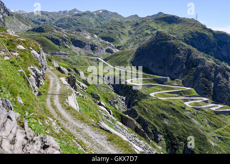 old gotthard pass road tremola canton of ticino. Black Bedroom Furniture Sets. Home Design Ideas