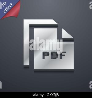 file PDF icon symbol  3D style  Trendy, modern design with