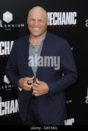 Hollywood, CA. 22nd Aug, 2016. Randy Couture at arrivals for MECHANIC: RESURRECTION Premiere, Arclight Cinemas Hollywood, - Stock Photo