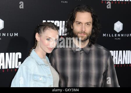 Hollywood, CA. 22nd Aug, 2016. Cassi Colvin, Chris D'Elia at arrivals for MECHANIC: RESURRECTION Premiere, Arclight - Stock Photo