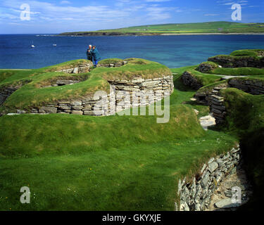 GB - SCOTLAND: Neolithic Skara Brae on Bay of Skaill on Orkney Mainland - Stock Photo