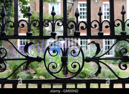 wrought iron gates - Stock Photo