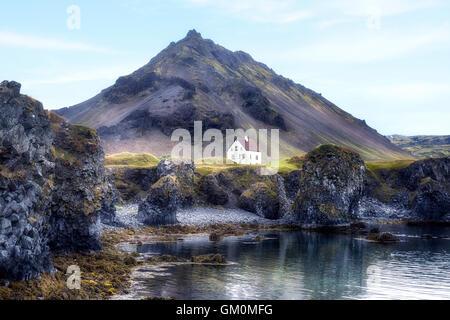 Arnastapi, Hellnar, Snaefellsnes, Iceland - Stock Photo