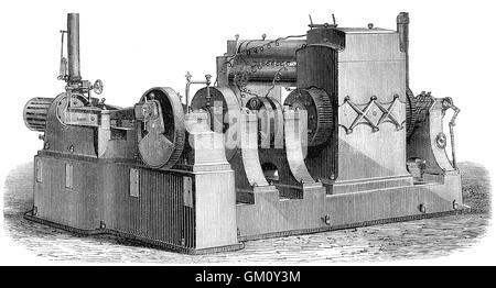 Generator by Thomas Alva Edison, 1847-1931, an American inventor and businessman - Stock Photo