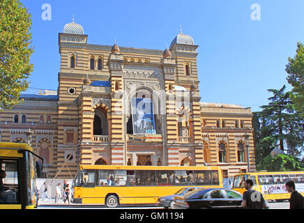 TBILISI, GEORGIA - SEPTEMBER 30, 2010 : Facade of the Georgian National Opera and Ballet Theater of Tbilisi in Eastern - Stock Photo
