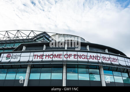 Exterior of Twickenham Rugby Stadium, London, England, U.K. - Stock Photo