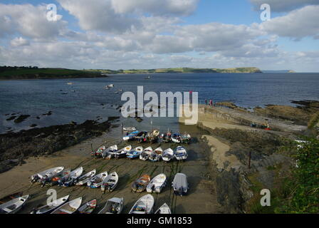 The harbour at Portscatho, Cornwall - Stock Photo