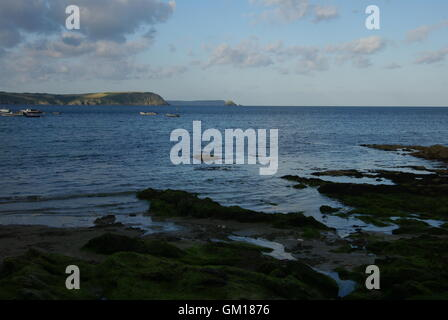 Roseland Peninsula, Cornwall. Looking from Portscatho - Stock Photo