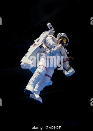 Manned Maneuvering Unit (MMU); astronaut propulsion unit  used for untethered Extravehicular activity (EVA); NASA - Stock Photo