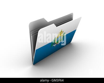 Flag of the San Marino Stock Photo, Royalty Free Image: 78943985 ...