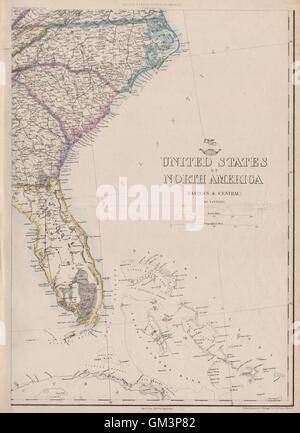 USA SOUTH EAST Florida Georgia Carolina Coast Bahamas ETTLING - Map usa bahamas