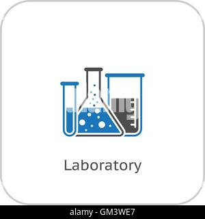 Laboratory and Medical Services Icon. Flat Design. - Stock Photo