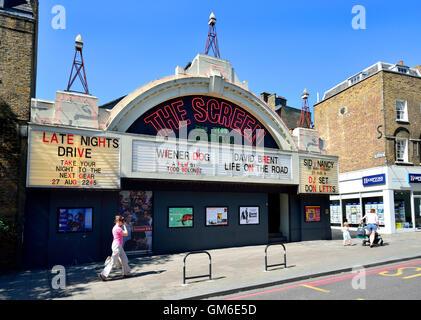 London England, UK. Islington: Everyman Screen on the Green cinema (83 Upper Street, London N1) - Stock Photo
