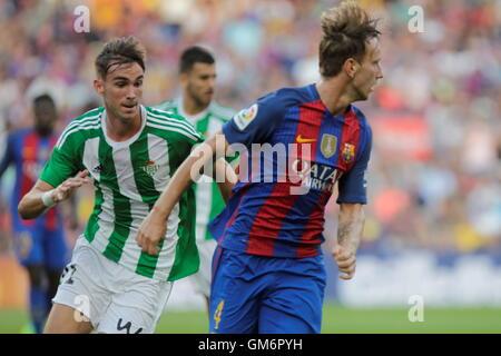 Barcelona, Catalonia, Spain. 20th Aug, 2016. FC Barcelona midfielder I. RAKITIC in action against Real Betis in - Stock Photo