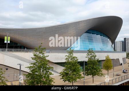 London Aquatics Centre at the Queen Elizabeth Olympic Park, Stratford, London, England, United Kingdom - Stock Photo