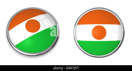 Banner Button Niger - Stock Photo
