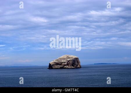 Bass Rock from Tantallon Castle - Stock Photo