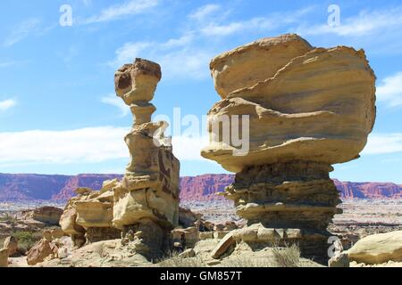 Rock(s) Formation (colour)- Valley of the Moon -  San Agustin del Valle Fertil - San Juan - Argentina - Geology - Stock Photo