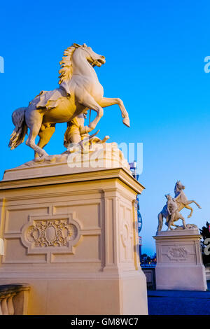 Horse statue in front of Schwerin Castle, Mecklenburg Western Pomerania, Germany - Stock Photo