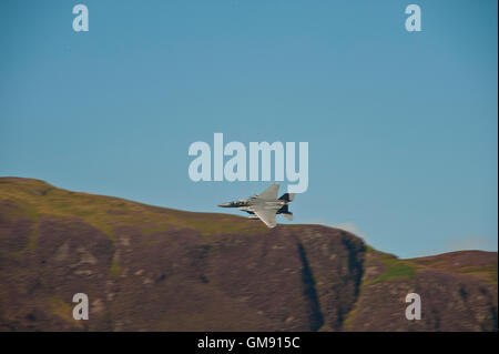 RAF jet plane flying over buttermere & crummock water in cumbria, Lake District
