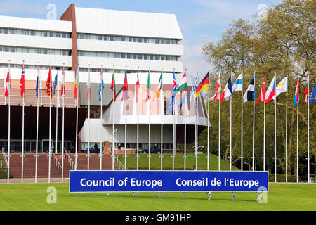 Palace of Europe (hosts Parliamentary Assembly of the Council of Europe since 1977), Strasbourg, France - Stock Photo