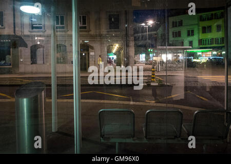 Switzerland, Canton Fribourg, Bulle, daily life - Stock Photo