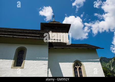 Switzerland, Canton Vaud, Chateau d'Oex, local church