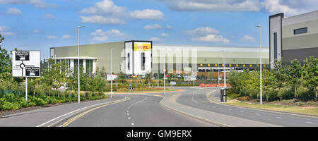 DHL logistics distribution warehouse on the Rugby Gateway development centrally located in middle England close - Stock Photo