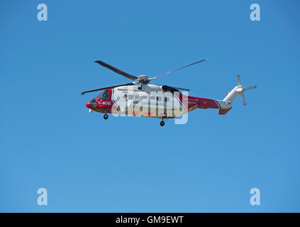 Sikorsky S-92A Coastguard SAR Helicopter (G-MCGI) based at Inverness. SCO 11,187. - Stock Photo