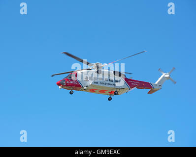 Sikorsky S-92A Coastguard SAR Helicopter (G-MCGG) based at Inverness. SCO 11,188. - Stock Photo
