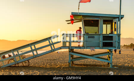 Santa Monica Beach Los Angeles - Stock Photo
