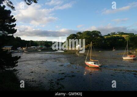St Just Creek at St Just In Roseland, Cornwall, England - Stock Photo