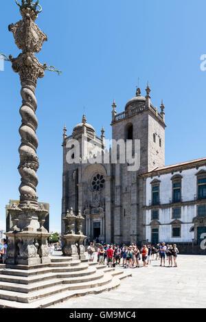 Se Cathedral, Porto, Portugal - Stock Photo