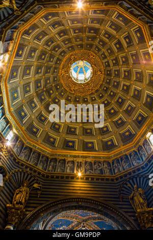 Siena, Italy - July 07, 2016: interior view of the Siena Cathedral. The Siena Cathedral is today one of the most - Stock Photo