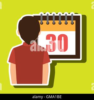person calendar date tax payment - Stock Photo