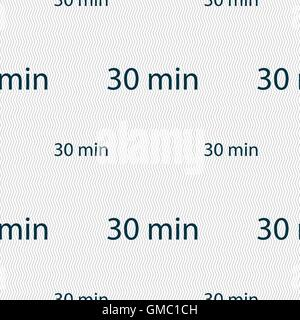 thirty minutes sign icon. Seamless pattern with geometric texture. Vector - Stock Photo