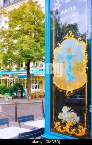 Cafe in Ile Saint Louis in Paris, France - Stock Photo