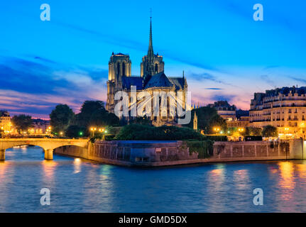 Notre Dame cathedral in Paris, France - Stock Photo