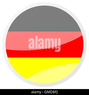 german round aqua button - Stock Photo