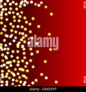red background with stars - Stock Photo