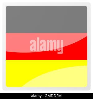 german aqua button - Stock Photo