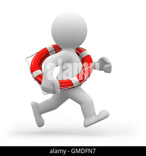 Running lifeguard - Stock Photo