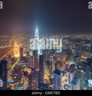View of central Kuala Lumpur - Stock Photo