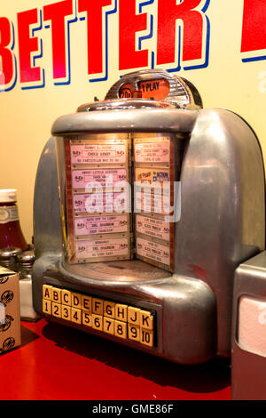 American jukebox in diner. Swindon England UK - Stock Photo