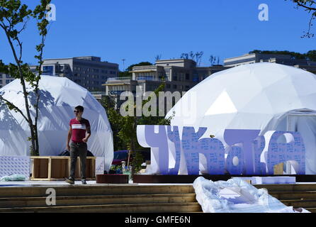 Vladivostok, Russia. 25th Aug, 2016. Preparations for the 2016 Eastern Economic Forum, which is to take place on - Stock Photo