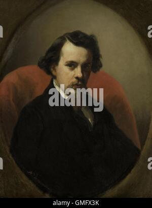 Charles Henri Joseph Leickert, Painter, by Nicolaas Pieneman, 1853, Dutch painting, oil on panel (BSLOC_2016_2_140) - Stock Photo