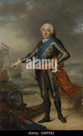 Portrait of William IV, Jacques-André-Joseph Aved, 1751, Dutch painting, oil on canvas. Prince of Orange-Nassau - Stock Photo